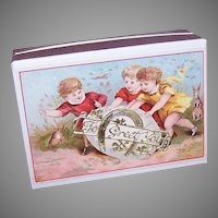 Antique French Germany Dresden Easter Gift Box