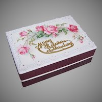 Antique French Happy Birthday Gift Box