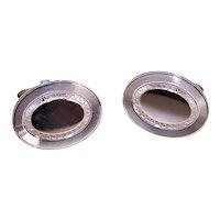 LaMode Sterling Silver Oval Cufflinks Unengraved