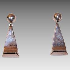 Vintage Mexican STERLING SILVER Drop Earrings - Screwbacks!