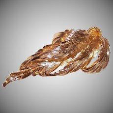 Vintage HENKEL & GROSSE Gold Tone Pin - Multi-Leaf Design