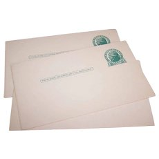 9 Vintage UNUSED Green One Cent - Thomas Jefferson - Postcards!