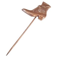 EDWARDIAN Gold Filled Advertising Stick Pin - Hamilton Brown Shoe Company!