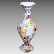 C.1938 LORD NELSON Chintz Bud Vase - Rosetime Pattern - Interesting Shape!