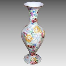 C.1938 LORD NELSON Chintz Bud Vase - Rosetime Pattern - Interesting Shape!