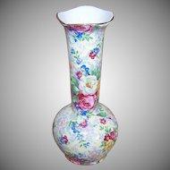 C.1938 LORD NELSON Chintz Bud Vase - Rosetime Pattern!