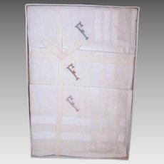 ART DECO Boxed Set of 3 Men's Hankies - Embroidered with Initial F for Frank
