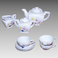RETRO MODERN Made in Japan 11-Piece Tea Set for a Doll/Little Girl - Atomic Age Design!