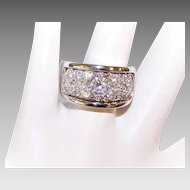 Vintage 14K Gold Wedding Band with .70CT Center Diamond & 1CT TW Pave Diamonds!