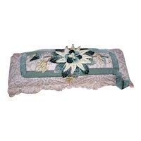 Art Deco Velvet & Lace Pin Cushion