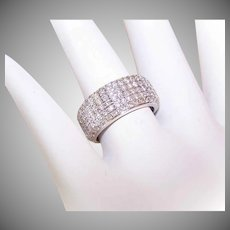 ESTATE 14K Gold & 1.20CT TW Pave Diamond Wedding Band/Wedding Ring!