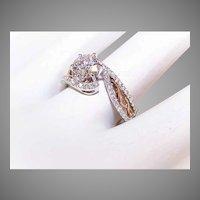 GIA 14K Gold 1.20CT TW Diamond Engagement Ring