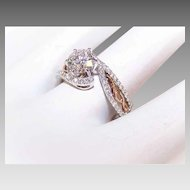 GIA 14K Two Tone Gold, .90CT Diamond Center (D Color) & .30CT TW Shoulder Diamonds Engagement Ring!