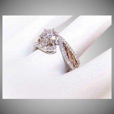 GIA 14K Two Tone Gold, .90CT Diamond Center (D Color) & .30CT TW Shoulder Diamonds Engagement Ring!