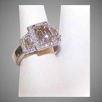 GIA Platinum 1.81CT TW Diamond Engagement Ring