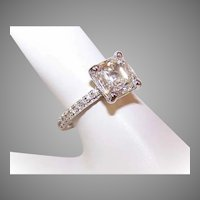 GIA 14K Gold, 2.01CT Internally Flawless Diamond Engagement Ring with .18CT TW Shoulder Stones!