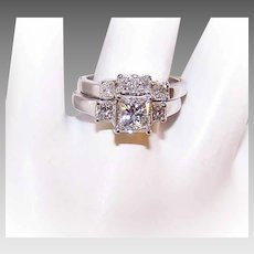 GIA 14K Gold, 1.42CT TW Princess Cut Diamond Engagement Ring with .60CT TW Wedding Band!