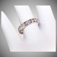 18K Gold (White Gold) & .77CT TW Diamond Wedding Band/Wedding Ring!