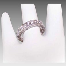 EDWARDIAN REVIVAL 14K Gold & .55CT TW Diamond Wedding Ring/Wedding Band!