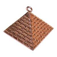 10K Gold Egyptian Pyramid Charm