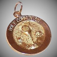 Vintage 14K Gold FIRST COMMUNION Medal, Pendant or Charm - A Pair of Angels!