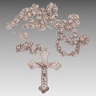 Vintage 800 SILVER Filigree Rosary from The Holy Land!