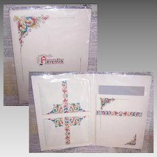Vintage Package of FLORENTIA Stationery - Made in Italy - 10 Pc Note Paper & Envelopes