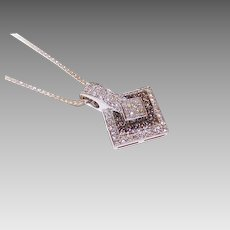 ESTATE 14K Gold, .68CT TW Clear Diamond & Chocolate Diamond Pendant!