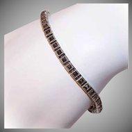 Vintage STERLING SILVER & Marcasite Tennis Bracelet/Line Bracelet!
