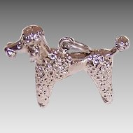 Vintage STERLING SILVER Charm - French Poodle!