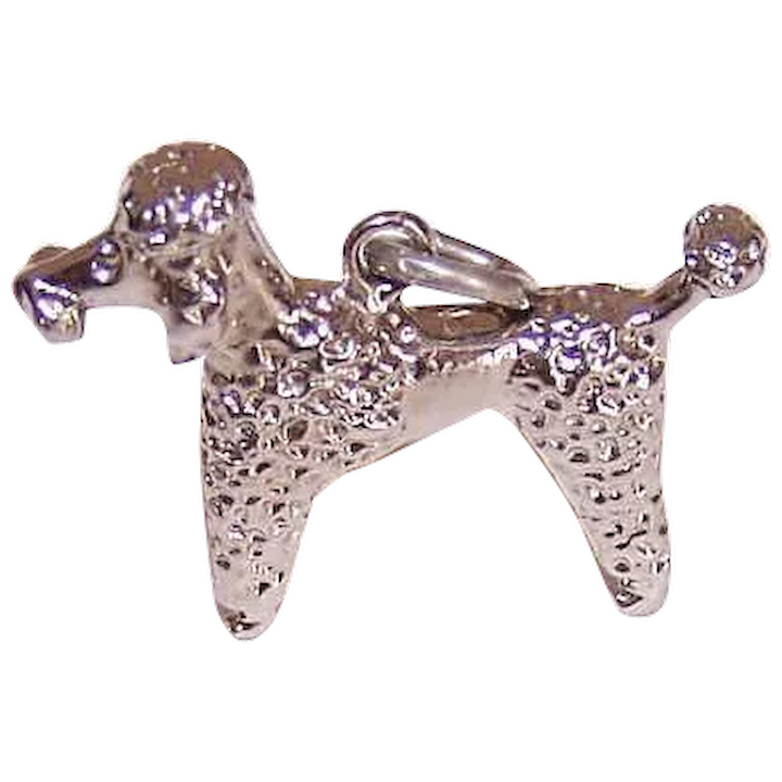 Sterling Silver 3D French Poodle Pet Dog Breed Charm