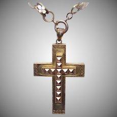 50% OFF Antique Victorian 14K GOLD Pendant - Crusader Cross, Religious Cross, Etruscan Revival