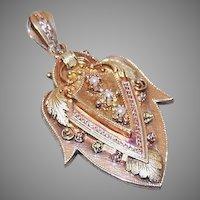 Victorian 14K Gold Pearl Locket