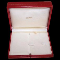 Vintage CARTIER Jewelry Box - Faux Red Leather, Satin & Velour!