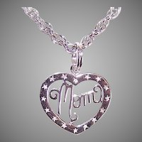 Sterling Silver Pendant for Mom