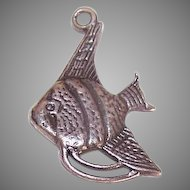 Sweet Vintage STERLING SILVER Charm - Angel Fish!