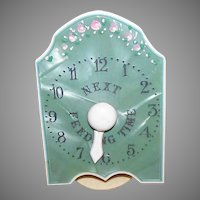 ART DECO Celluloid Nursery Accessory - Next Feeding Time - HP Display Sign