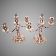ART DECO Sterling Silver Dinner Candlesticks - Break A Part Sections for Different Sizes