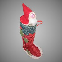 Vintage Made in Japan Candy Container - Santa Claus in a Boot
