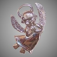 Wells Sterling Silver Angel Charm