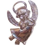 Vintage STERLING SILVER Charm by Wells - A Little Angel