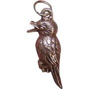Vintage STERLING SILVER Charm - Bird - Kookaburra