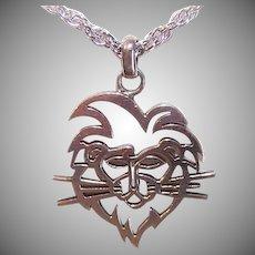 Sterling Silver Pendant Lion King