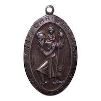 Sterling Silver Religious St Christopher Medal Pendant Charm