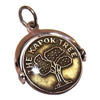 Vintage Sterling Silver Enamel Spinner Charm - The Kapok Tree