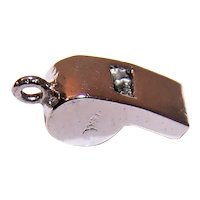 Vintage Sterling Silver Charm - Small Whistle