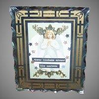 ART DECO Mirror Frame - Religious, First Communion, Glass
