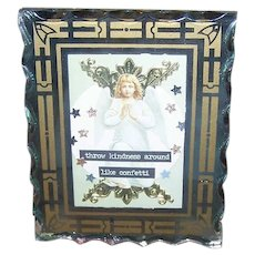 ART DECO Mirror Frame - Religious, First Communion, Glass