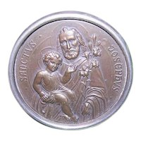 Art Deco Made in Germany Religious Icon Table Decoration - Saint Joseph and Infant Jesus