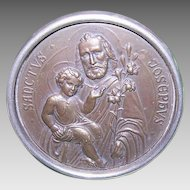 ART DECO Religious Icon - Saint Joseph, Infant Jesus, Made in Germany